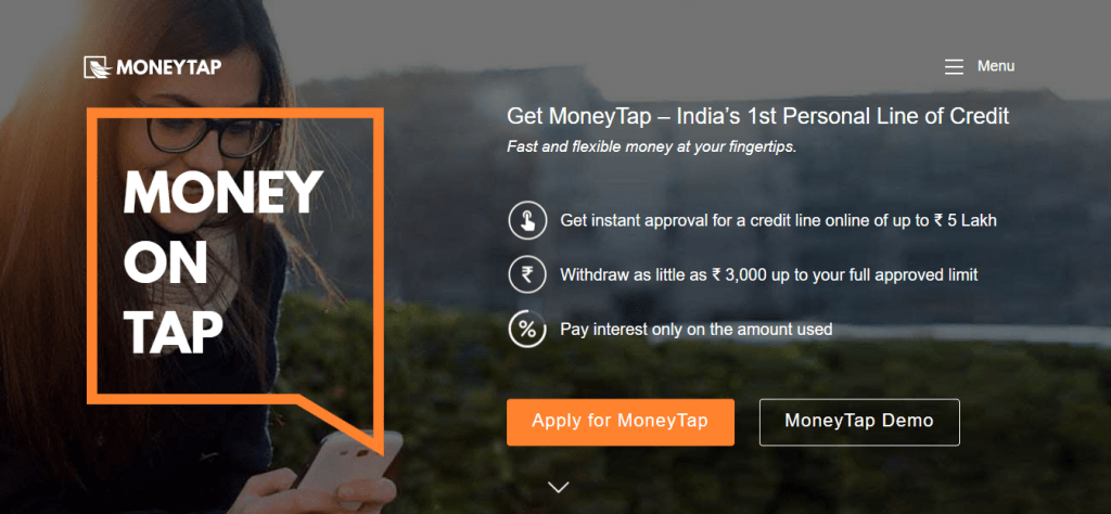 MoneyTap - personal loan apps in India